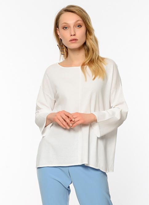 Stefanel Bluz Beyaz